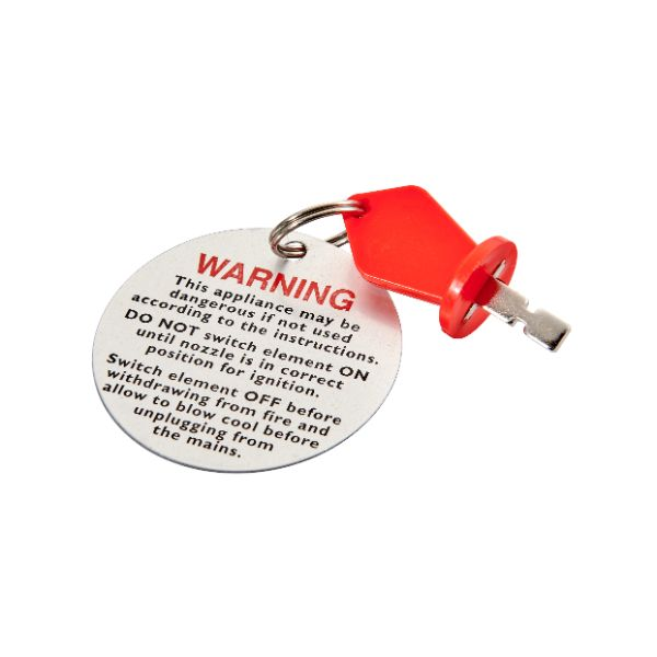 Key, Key Ring and Warning Disc